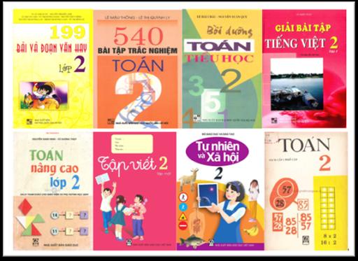 540 Bài tập trắc nghiệm Toán lớp 2